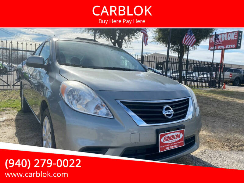2014 Nissan Versa for sale at CARBLOK in Lewisville TX