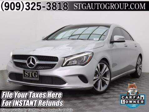 2018 Mercedes-Benz CLA for sale at STG Auto Group in Montclair CA