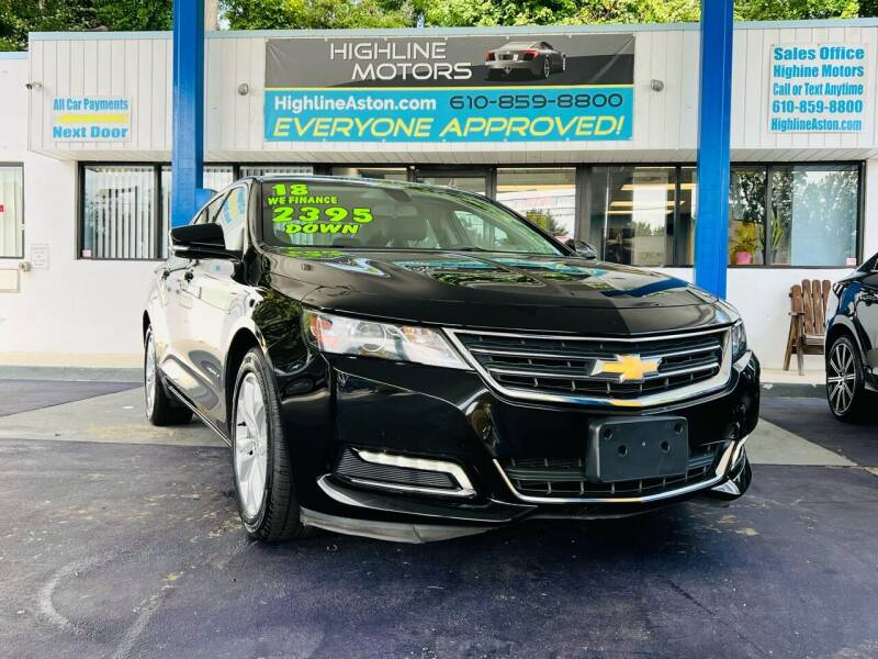 2018 Chevrolet Impala for sale at Highline Motors in Aston PA