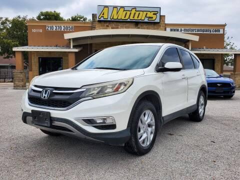 2015 Honda CR-V for sale at A MOTORS SALES AND FINANCE - 10110 West Loop 1604 N in San Antonio TX