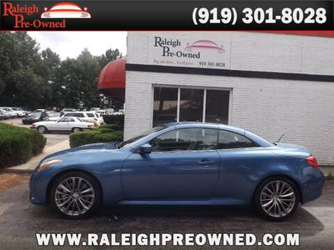2013 Infiniti G37 Convertible for sale at Raleigh Pre-Owned in Raleigh NC