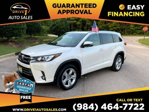 2017 Toyota Highlander for sale at Drive 1 Auto Sales in Wake Forest NC