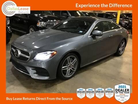 2018 Mercedes-Benz E-Class for sale at Dallas Auto Finance in Dallas TX