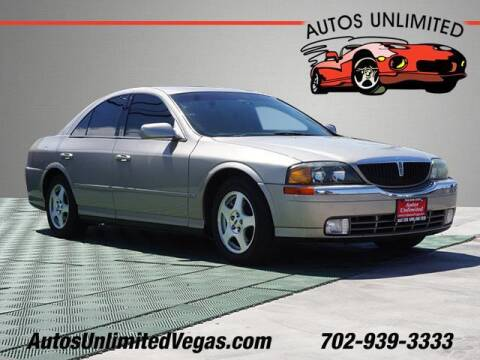 2001 Lincoln LS for sale at Autos Unlimited in Las Vegas NV