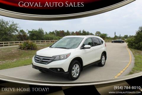 2013 Honda CR-V for sale at Goval Auto Sales in Pompano Beach FL