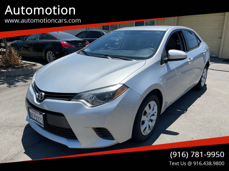2016 Toyota Corolla for sale at Automotion in Roseville CA