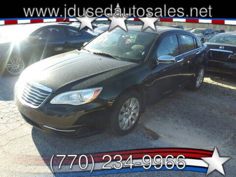 2013 Chrysler 200 for sale at J D USED AUTO SALES INC in Doraville GA