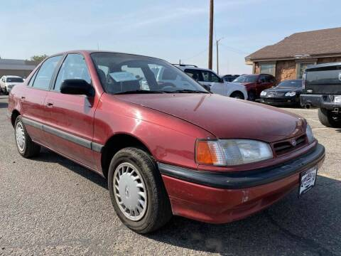1993 Hyundai Elantra for sale at BERKENKOTTER MOTORS in Brighton CO