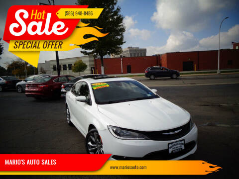 2015 Chrysler 200 for sale at MARIO'S AUTO SALES in Mount Clemens MI