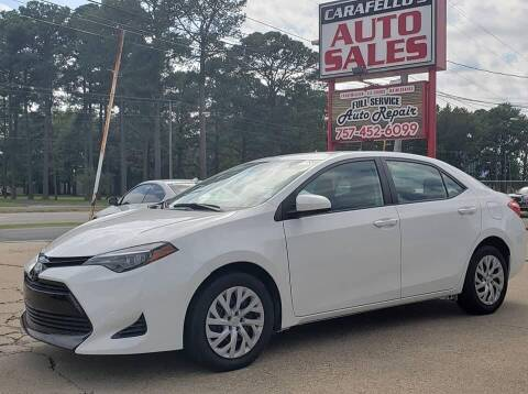 2018 Toyota Corolla for sale at Carafello's Auto Sales in Norfolk VA
