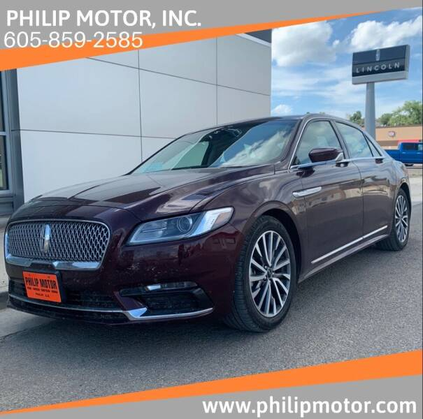 2017 Lincoln Continental for sale at Philip Motor Inc in Philip SD