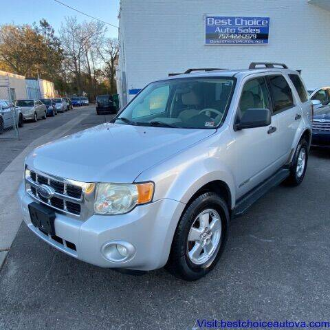 2008 Ford Escape for sale at Best Choice Auto Sales in Virginia Beach VA