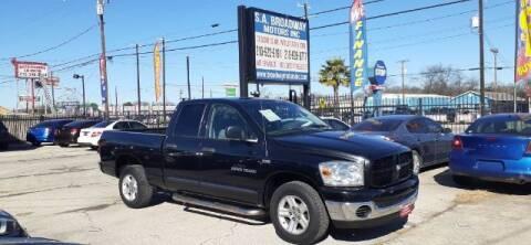 2007 Dodge Ram Pickup 1500 for sale at S.A. BROADWAY MOTORS INC in San Antonio TX