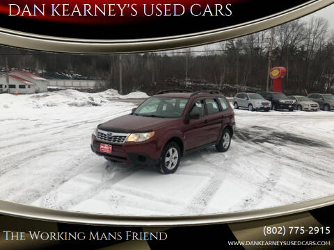 2011 Subaru Forester for sale at DAN KEARNEY'S USED CARS in Center Rutland VT