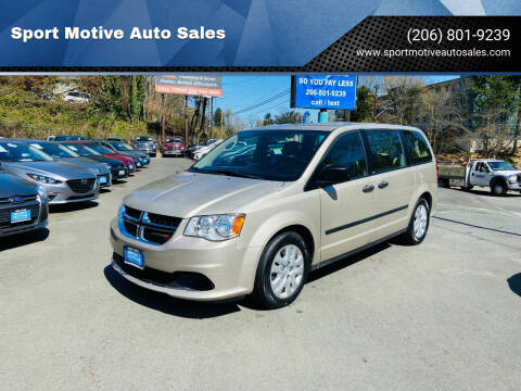 2014 Dodge Grand Caravan for sale at Sport Motive Auto Sales in Seattle WA
