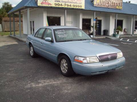 2003 Mercury Grand Marquis for sale at LONGSTREET AUTO in St Augustine FL