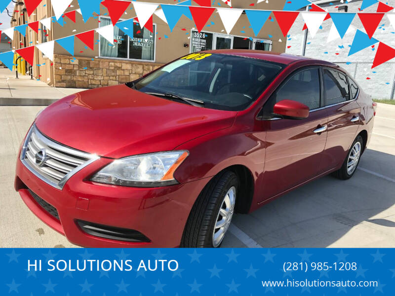 2013 Nissan Sentra for sale at HI SOLUTIONS AUTO in Houston TX