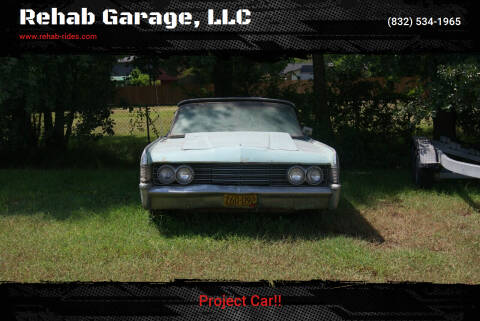 1965 Lincoln Continental for sale at Rehab Garage, LLC in Tomball TX