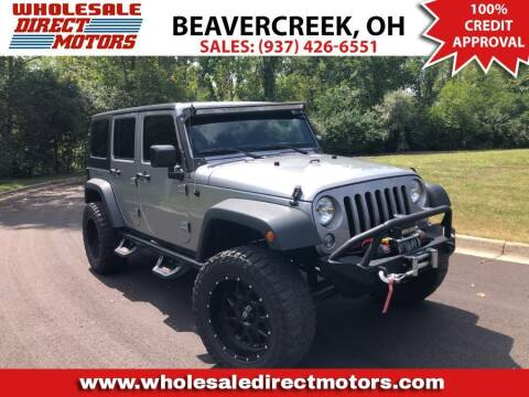 2016 Jeep Wrangler Unlimited for sale at WHOLESALE DIRECT MOTORS in Beavercreek OH
