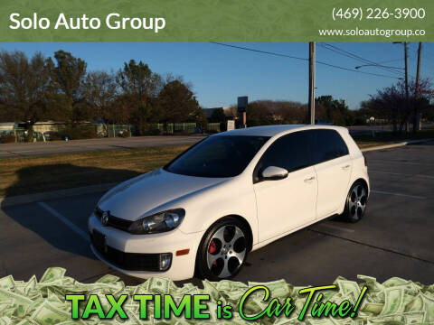 2012 Volkswagen GTI for sale at Solo Auto Group in Mckinney TX