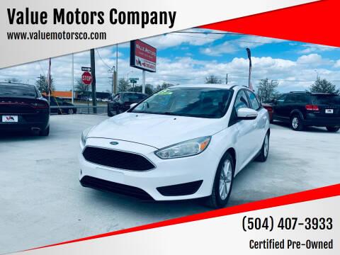 2015 Ford Focus for sale at Value Motors Company in Marrero LA