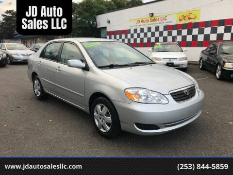 2007 Toyota Corolla for sale at JD Auto Sales LLC in Fife WA