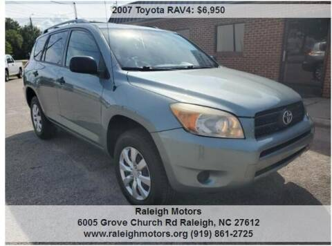 2007 Toyota RAV4 for sale at Raleigh Motors in Raleigh NC