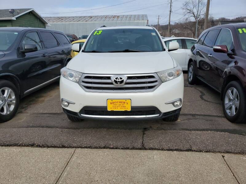 2013 Toyota Highlander for sale at Brothers Used Cars Inc in Sioux City IA