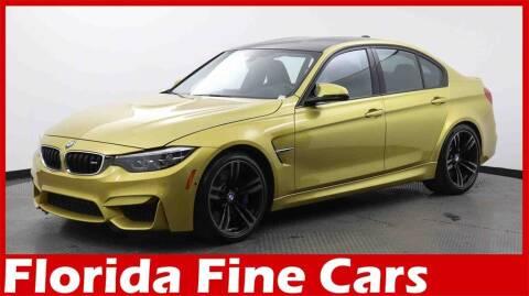 2018 BMW M3 for sale at Florida Fine Cars - West Palm Beach in West Palm Beach FL