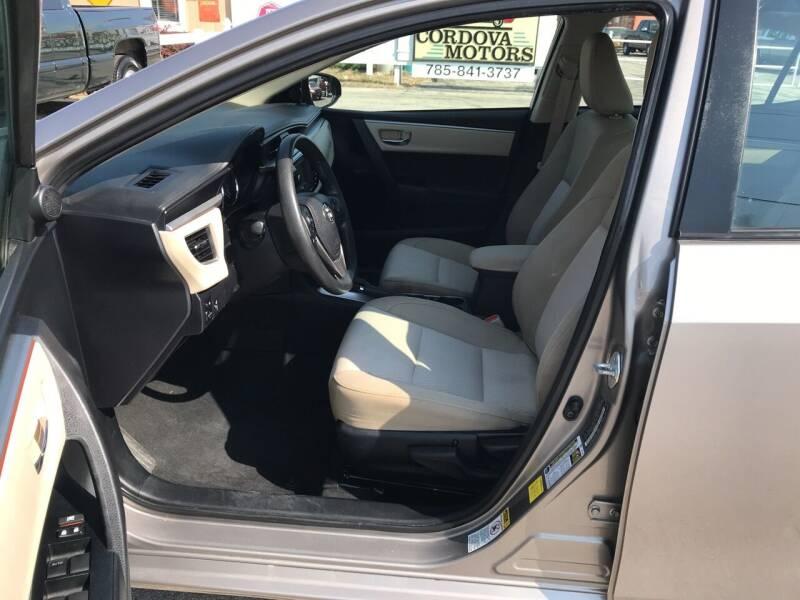 2015 Toyota Corolla LE 4dr Sedan - Lawrence KS