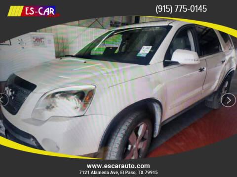 2011 GMC Acadia for sale at Escar Auto in El Paso TX
