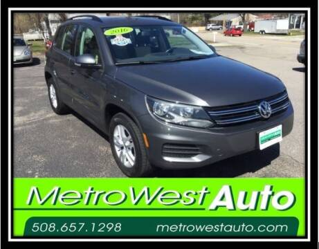 2016 Volkswagen Tiguan for sale at Metro West Auto in Bellingham MA