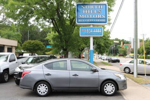 2018 Nissan Versa for sale at North Hills Motors in Raleigh NC