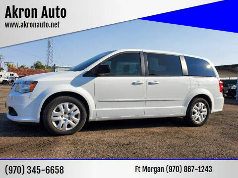 2016 Dodge Grand Caravan for sale at Akron Auto - Fort Morgan in Fort Morgan CO