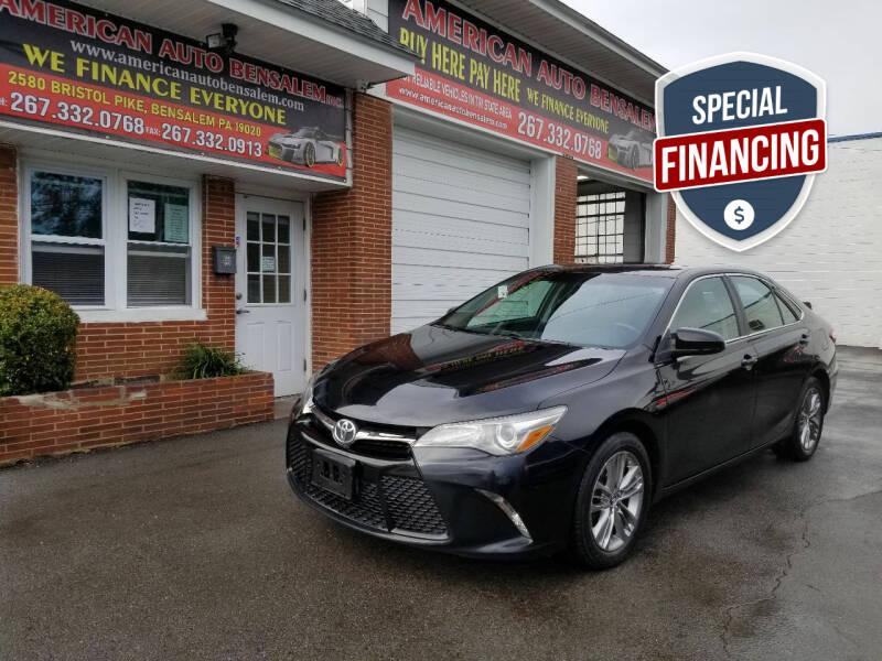 2015 Toyota Camry for sale at American Auto Bensalem Inc in Bensalem PA