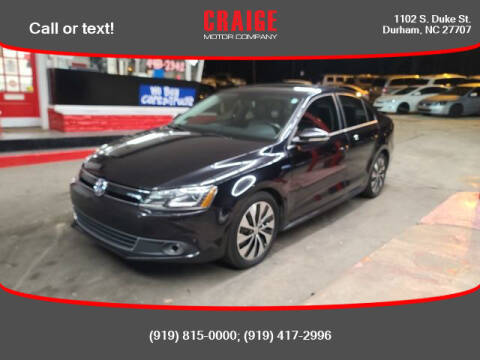 2013 Volkswagen Jetta for sale at CRAIGE MOTOR CO in Durham NC