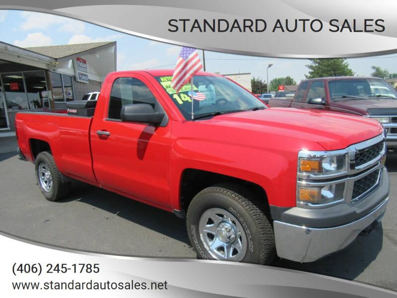 2014 Chevrolet Silverado 1500 for sale at Standard Auto Sales in Billings MT