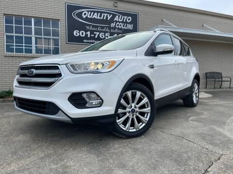 2017 Ford Escape for sale at Quality Auto of Collins in Collins MS