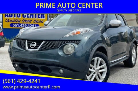 2012 Nissan JUKE for sale at PRIME AUTO CENTER in Palm Springs FL