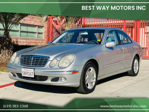 2003 Mercedes-Benz E-Class for sale at BEST WAY MOTORS INC in San Diego CA