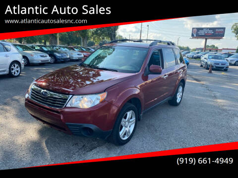 2009 Subaru Forester for sale at Atlantic Auto Sales in Garner NC