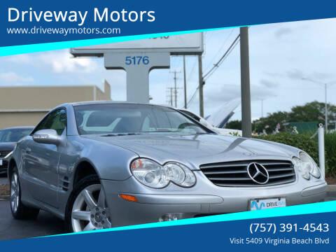 2003 Mercedes-Benz SL-Class for sale at Driveway Motors in Virginia Beach VA