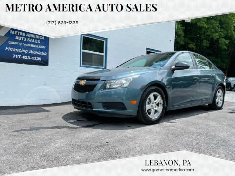 2012 Chevrolet Cruze for sale at METRO AMERICA AUTO SALES of Lebanon in Lebanon PA