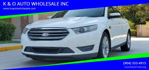 2013 Ford Taurus for sale at K & O AUTO WHOLESALE INC in Jacksonville FL