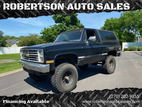 1988 Chevrolet Blazer for sale at ROBERTSON AUTO SALES in Bowling Green KY