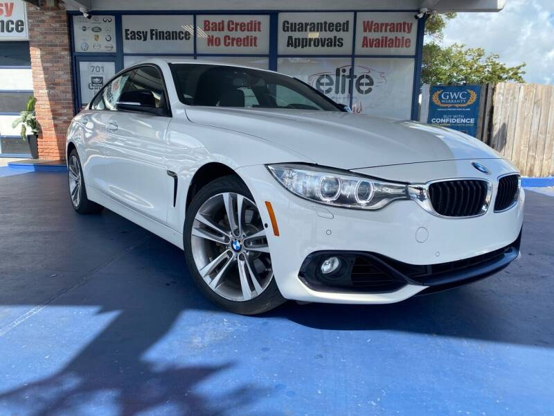 2015 BMW 4 Series for sale at ELITE AUTO WORLD in Fort Lauderdale FL