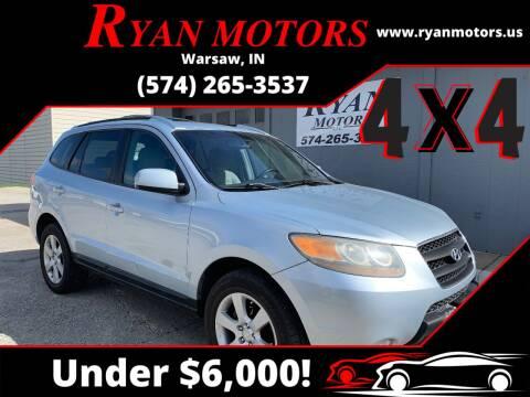 2007 Hyundai Santa Fe for sale at Ryan Motors LLC in Warsaw IN