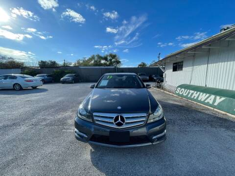 2013 Mercedes-Benz C-Class for sale at SOUTHWAY MOTORS in Houston TX