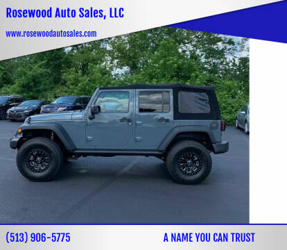 2015 Jeep Wrangler Unlimited for sale at Rosewood Auto Sales, LLC in Hamilton OH