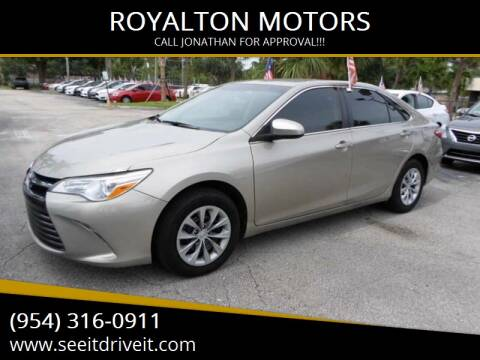 2016 Toyota Camry for sale at ROYALTON MOTORS in Plantation FL
